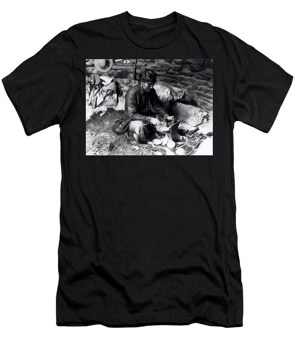 William J Carpenter Men's T-Shirt (Athletic Fit) featuring the photograph Silversmith At Work by William J Carpenter