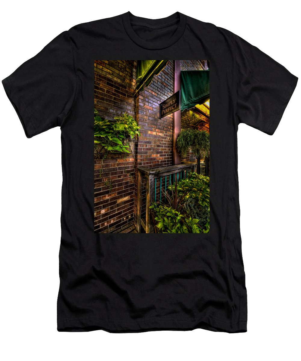 8th And Rr Men's T-Shirt (Athletic Fit) featuring the photograph Simple Perfect by Mike Oistad