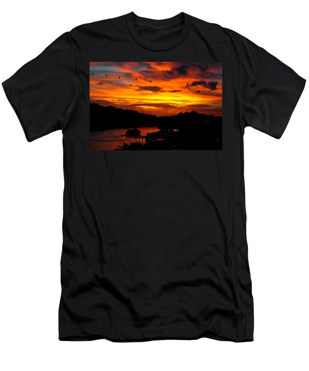 Singapore Men's T-Shirt (Athletic Fit) featuring the photograph Singapore by Jijo George