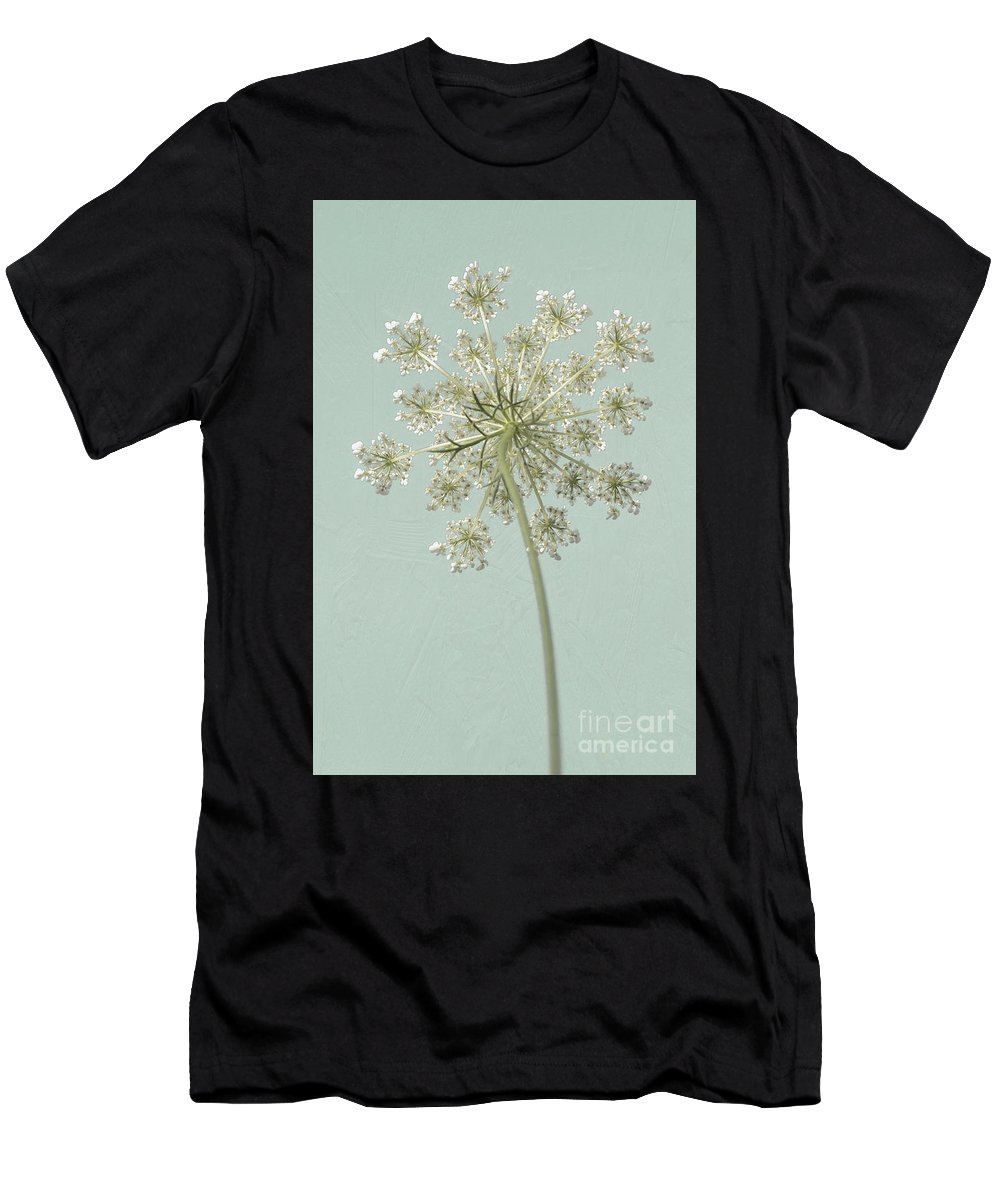 Art Men's T-Shirt (Athletic Fit) featuring the photograph Single Queen Anne's Lace by Lucid Mood