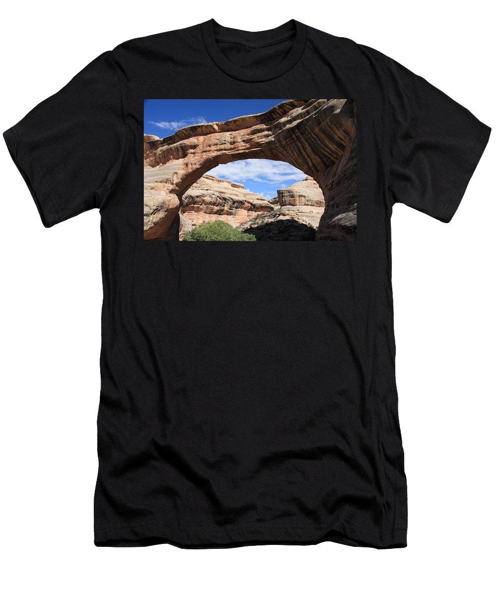 Utah Men's T-Shirt (Athletic Fit) featuring the photograph Sipapu Bridge - Utah by Aidan Moran