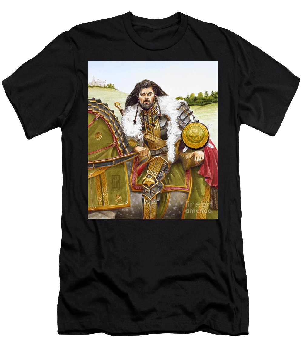 Fine Art Men's T-Shirt (Athletic Fit) featuring the painting Sir Marhaus by Melissa A Benson