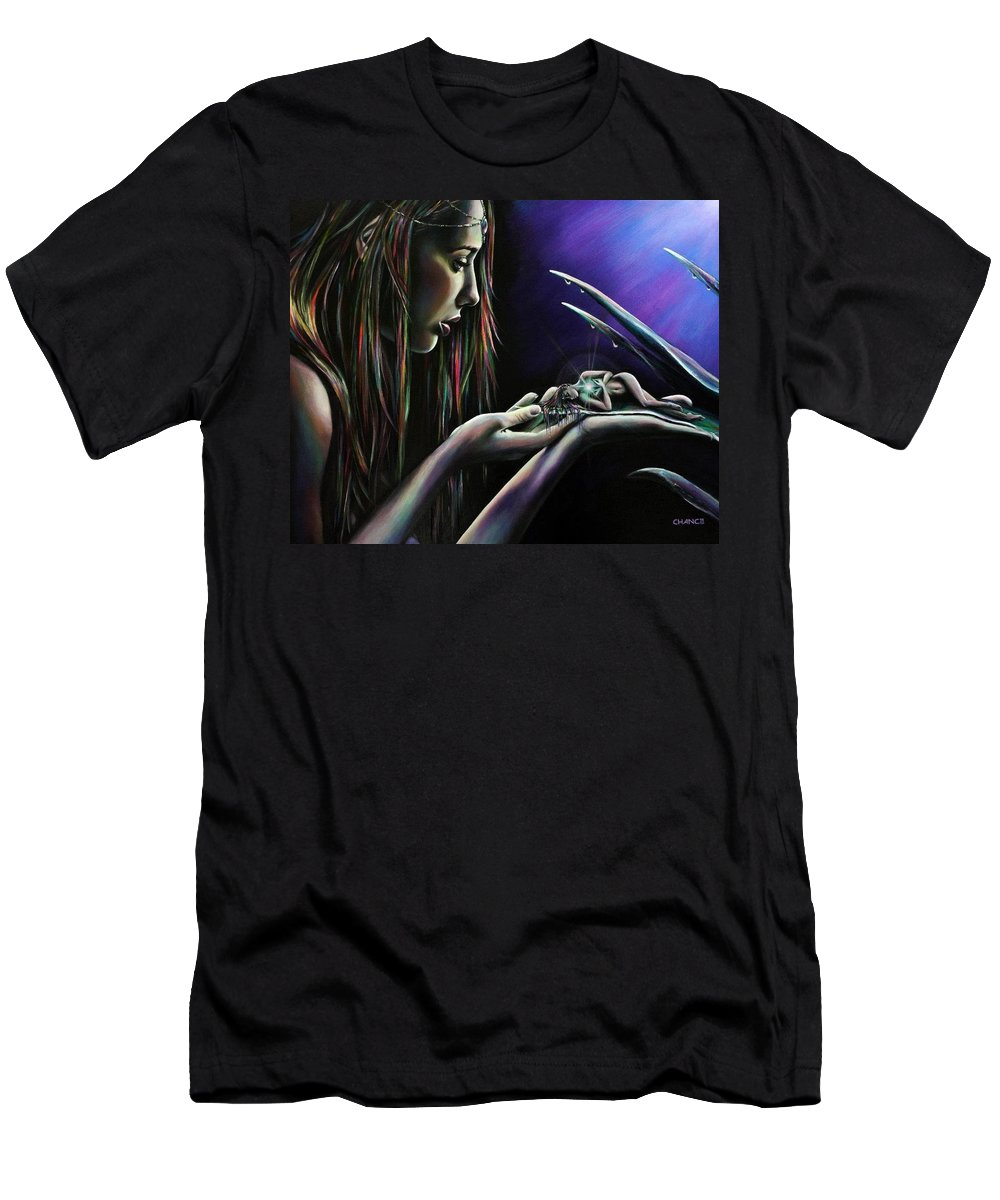 Men's T-Shirt (Athletic Fit) featuring the painting Sister Nature by Robyn Chance