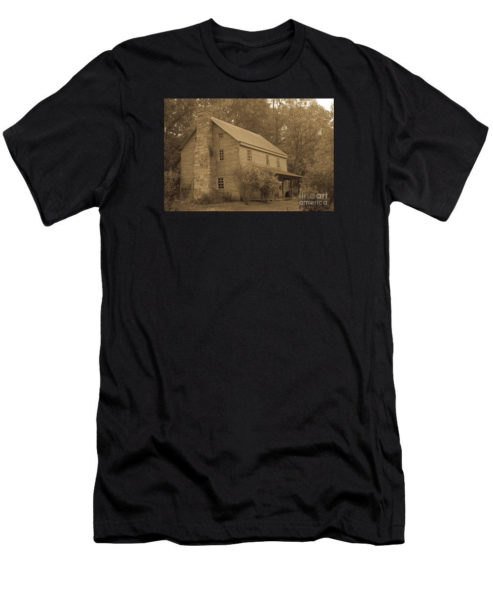 Seneca Rocks Men's T-Shirt (Athletic Fit) featuring the photograph Sites Homestead Timeless Series 10 by Howard Tenke