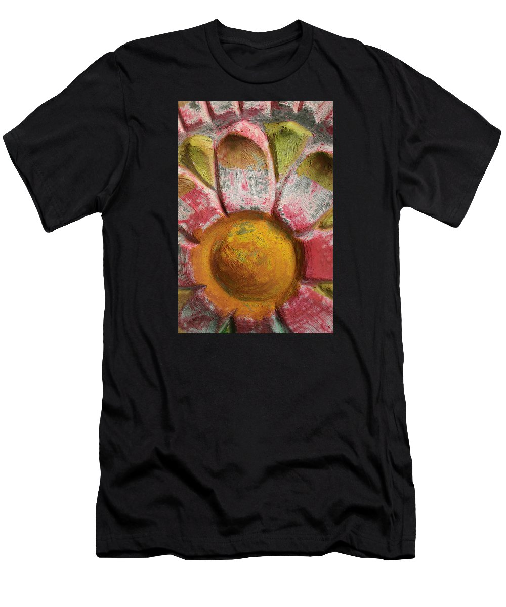Flower Men's T-Shirt (Athletic Fit) featuring the photograph Skc 0008 Scraped Paint by Sunil Kapadia