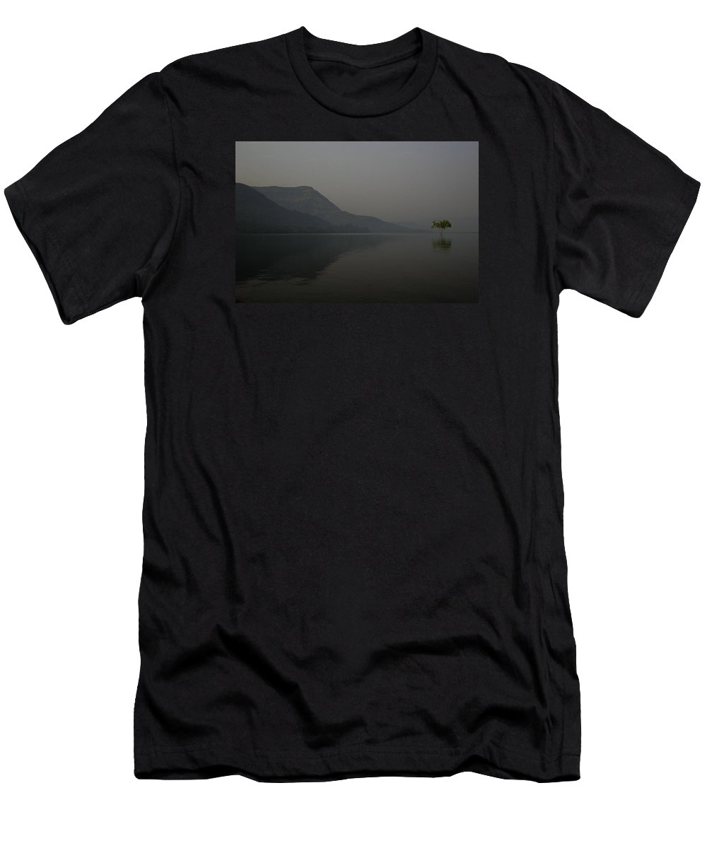 One Men's T-Shirt (Athletic Fit) featuring the photograph Skc 0086 Solitary Isolation by Sunil Kapadia