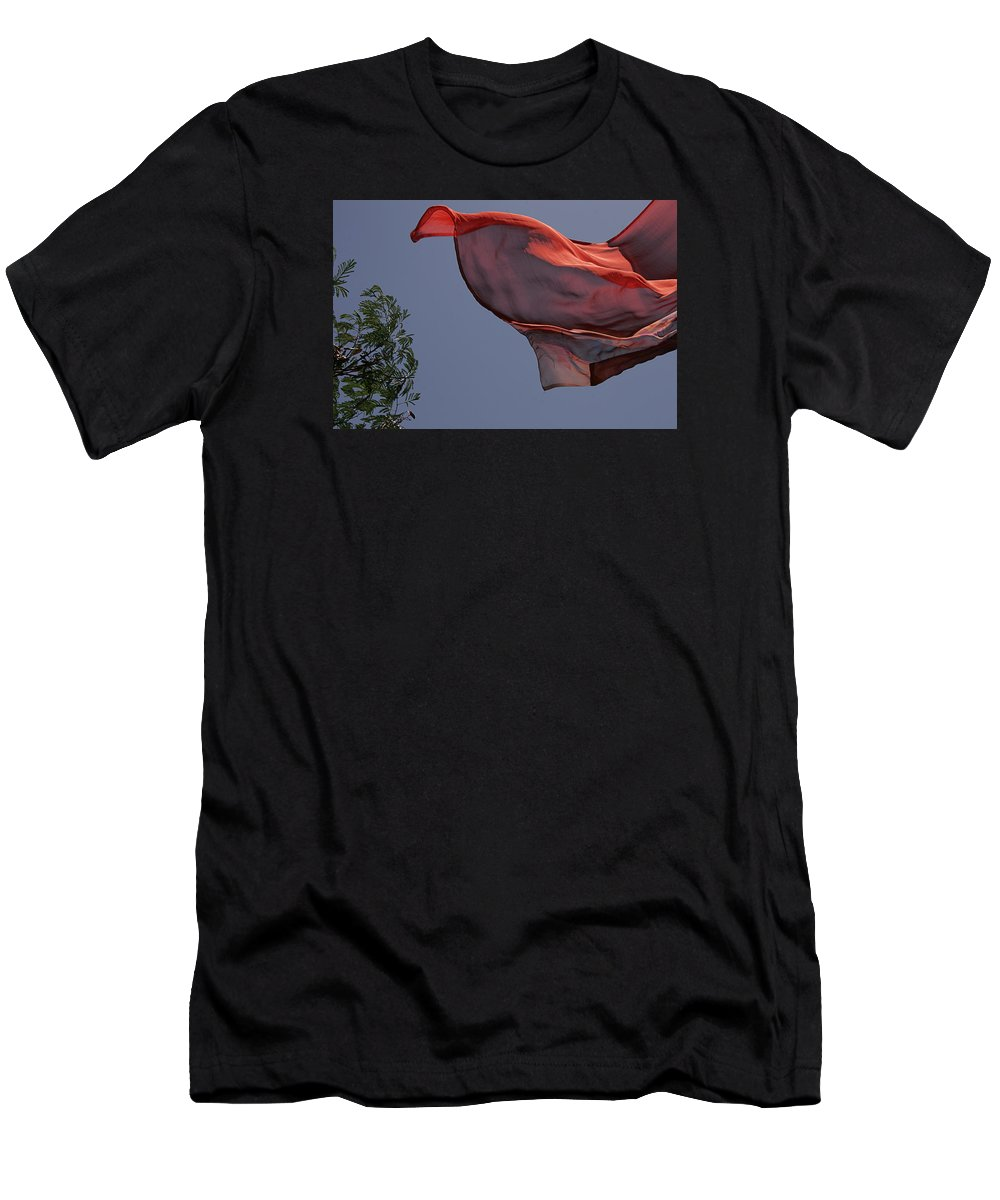 Abstract Men's T-Shirt (Athletic Fit) featuring the photograph Skc 0958 Flying Saree by Sunil Kapadia
