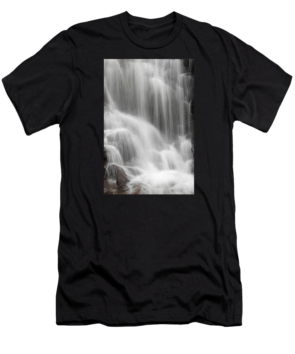 Close Men's T-Shirt (Athletic Fit) featuring the photograph Skc 1419 Smooth Pattern by Sunil Kapadia