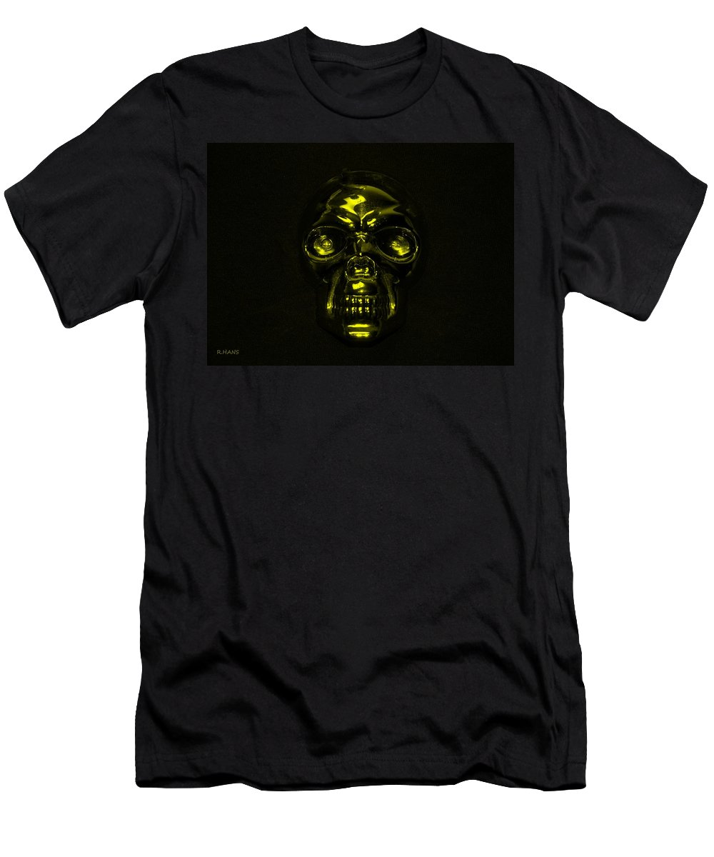 Skull Men's T-Shirt (Athletic Fit) featuring the photograph Skull In Yellow by Rob Hans