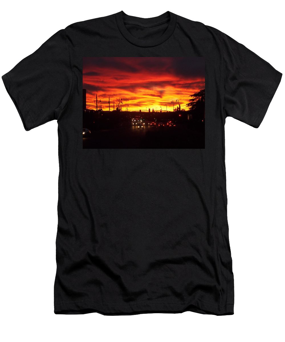 Arizona Men's T-Shirt (Athletic Fit) featuring the photograph Sky Fire by Two Bridges North