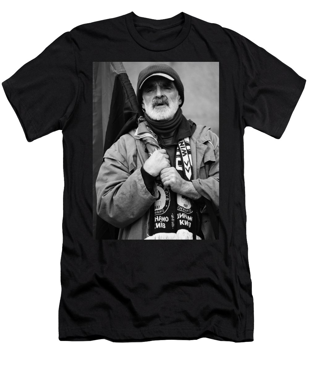 Pride Men's T-Shirt (Athletic Fit) featuring the photograph Slava by The Artist Project