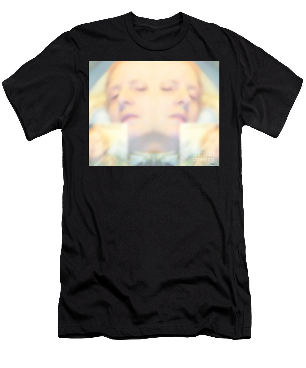Dream Men's T-Shirt (Athletic Fit) featuring the photograph Sleeping Woman Drifting In Dreams by Marian Cates