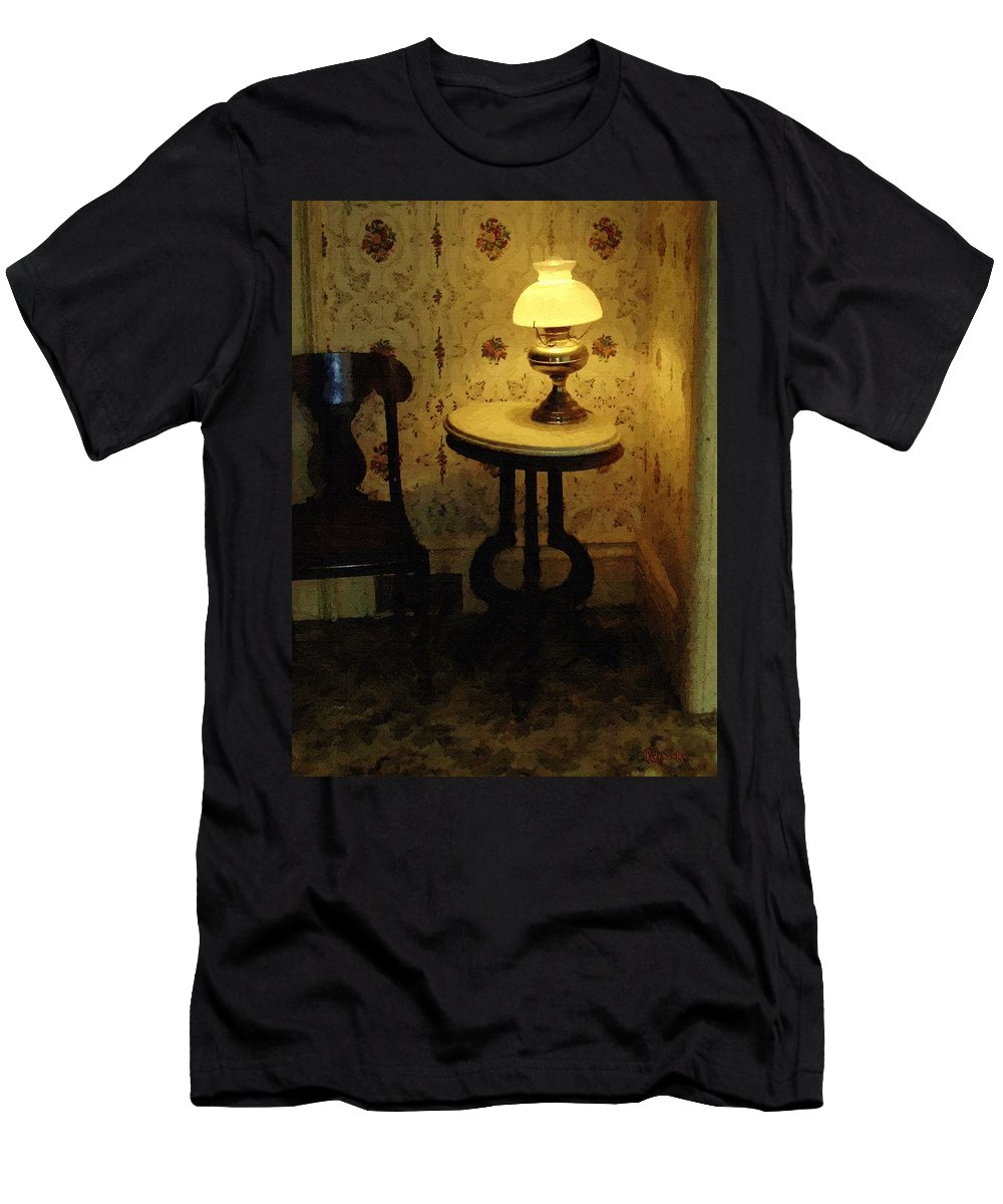 Antiques Men's T-Shirt (Athletic Fit) featuring the painting Slightly Tipsy by RC DeWinter