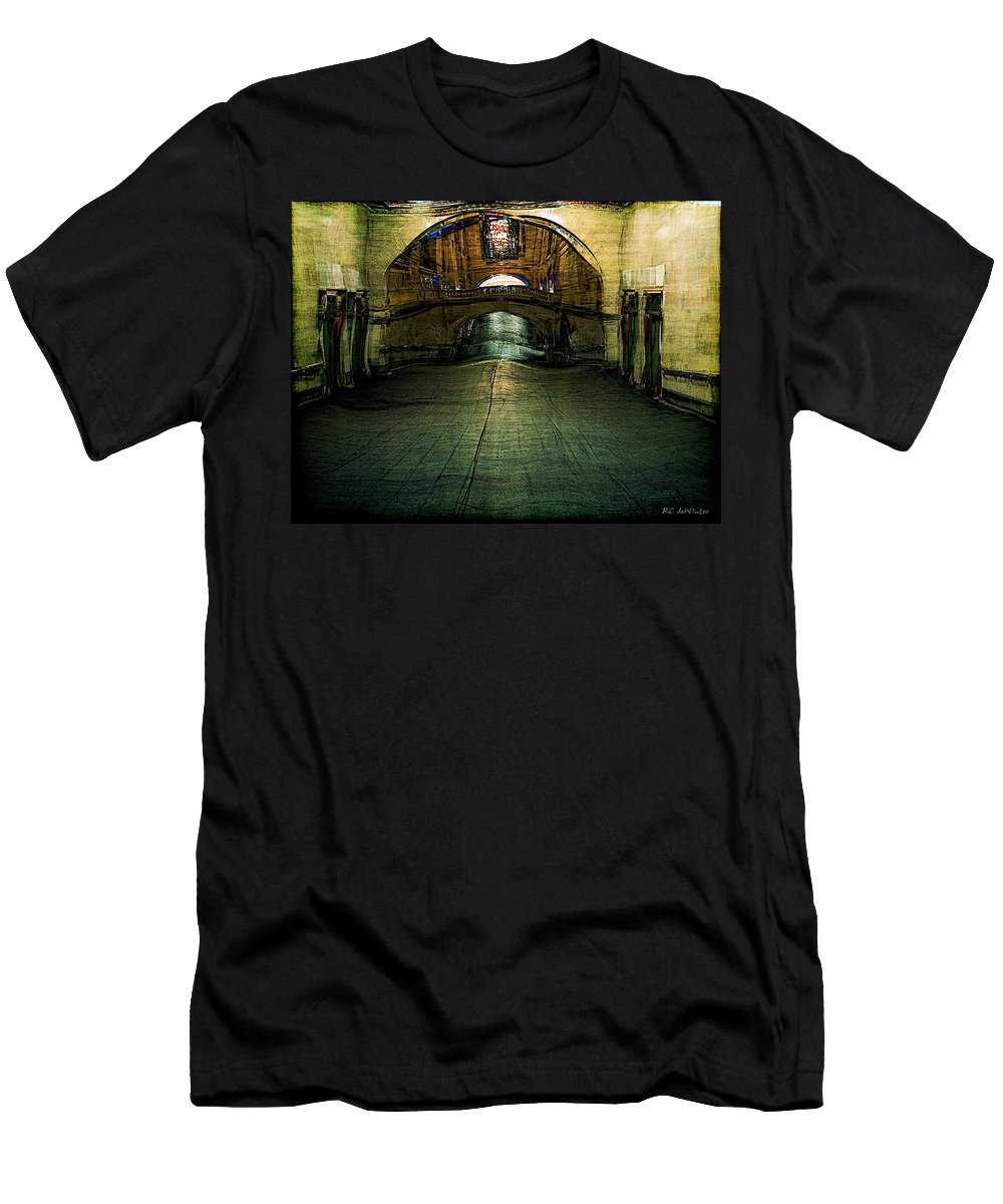 Archway Men's T-Shirt (Athletic Fit) featuring the painting Slouching Towards Bethlehem by RC DeWinter