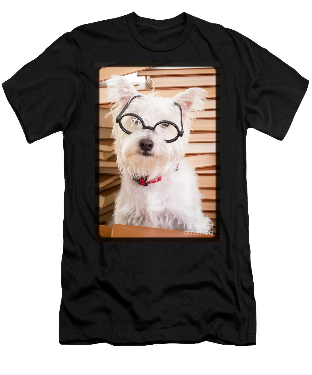 Westie Men's T-Shirt (Athletic Fit) featuring the photograph Smart Doggie by Edward Fielding