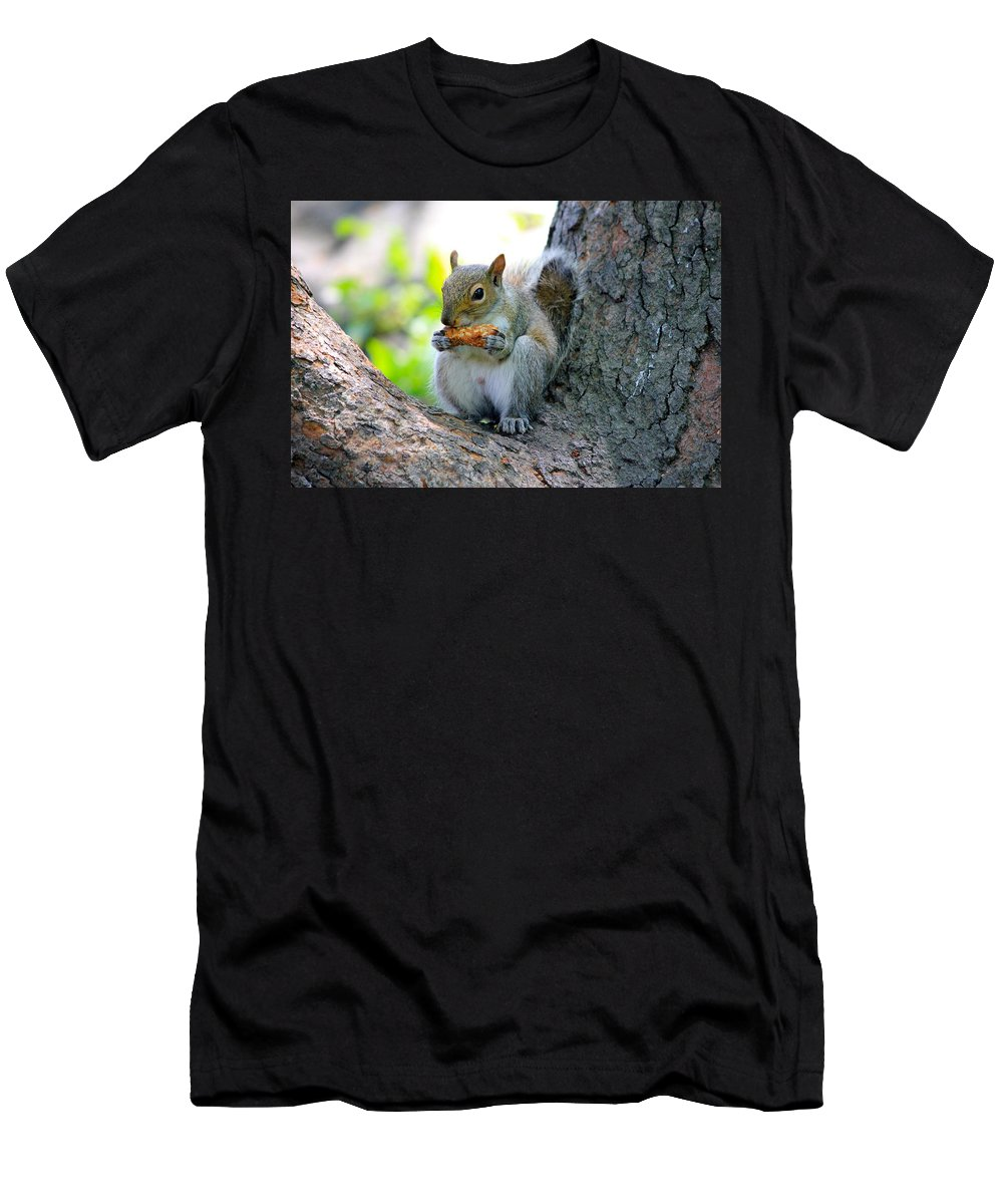Animal Men's T-Shirt (Athletic Fit) featuring the photograph Smell Good by Lorna Maza