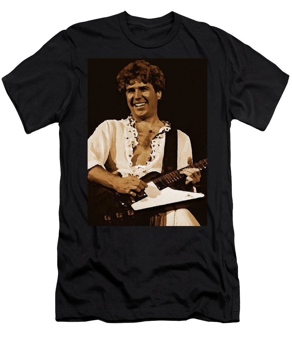 Sammy Hagar Men's T-Shirt (Athletic Fit) featuring the photograph Smiling Sammy 2 by Ben Upham