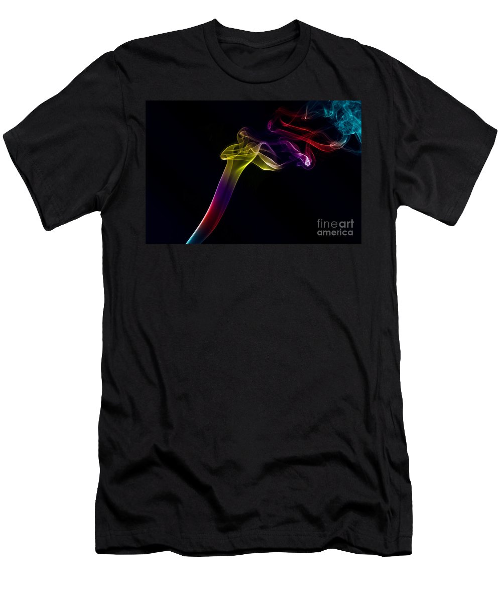 Smoking Trails Men's T-Shirt (Athletic Fit) featuring the photograph Smokey 10 by Steve Purnell