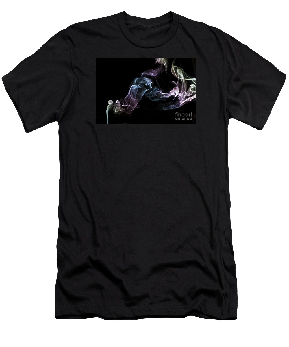 Smoking Trails Men's T-Shirt (Athletic Fit) featuring the photograph Smokey 16 by Steve Purnell