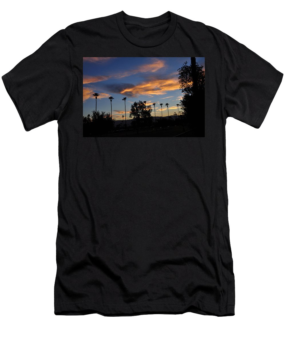 Clouds Men's T-Shirt (Athletic Fit) featuring the photograph Smoky Sky The Morning After Fire by Jay Milo