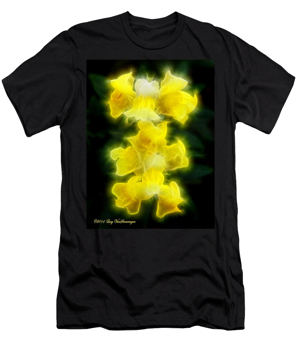 Flower T-Shirt featuring the photograph Snappy Dragons by Lucy VanSwearingen