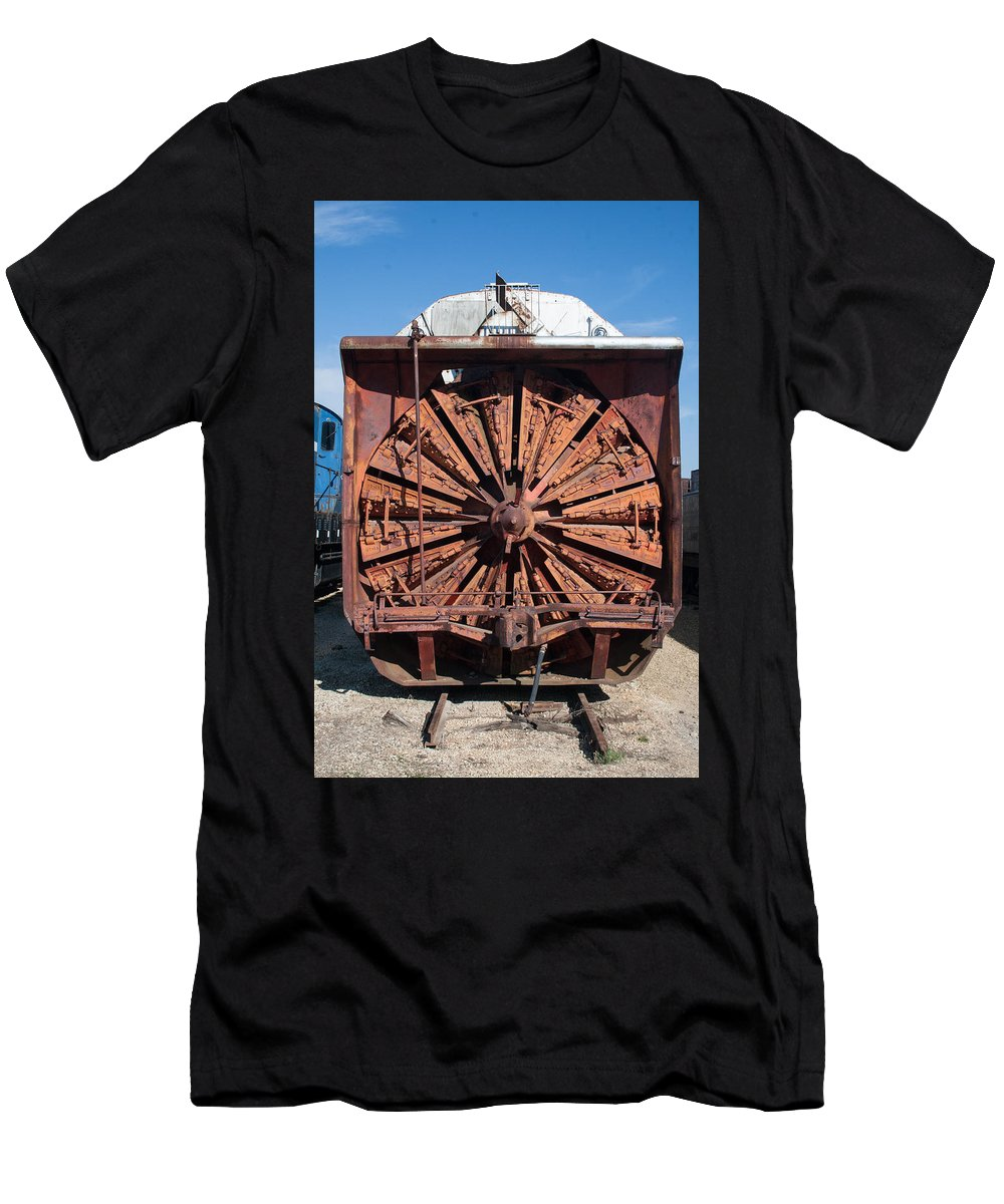 Old Locomotives Men's T-Shirt (Athletic Fit) featuring the photograph Snow Mover by Robert Storost