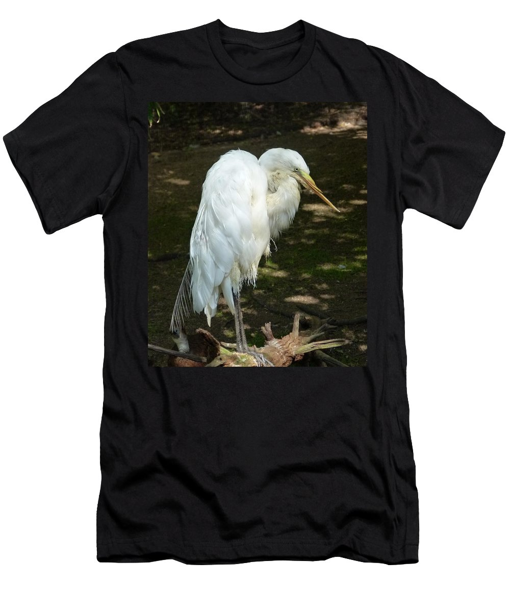 White Men's T-Shirt (Athletic Fit) featuring the photograph Snowy Egret 2 by Richard Bryce and Family