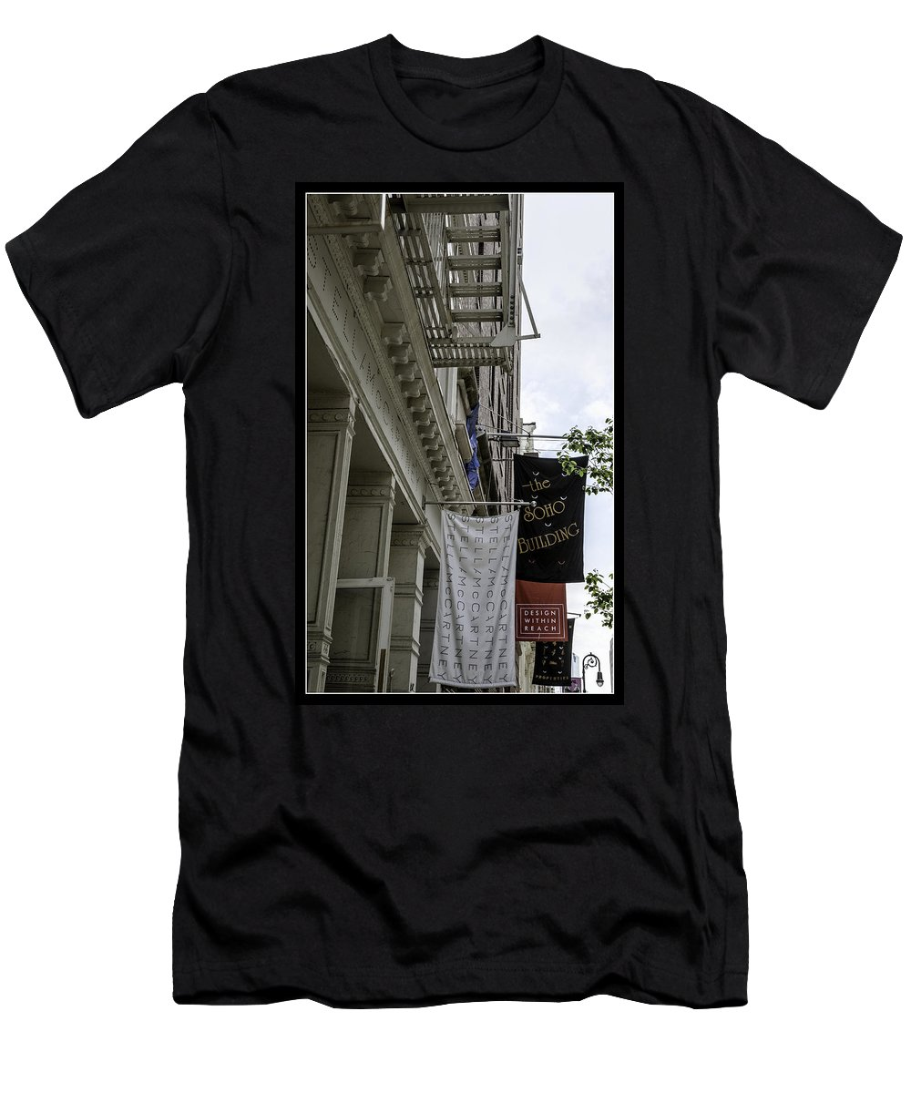 Soho Men's T-Shirt (Athletic Fit) featuring the photograph Soho 2 - Nyc by Madeline Ellis