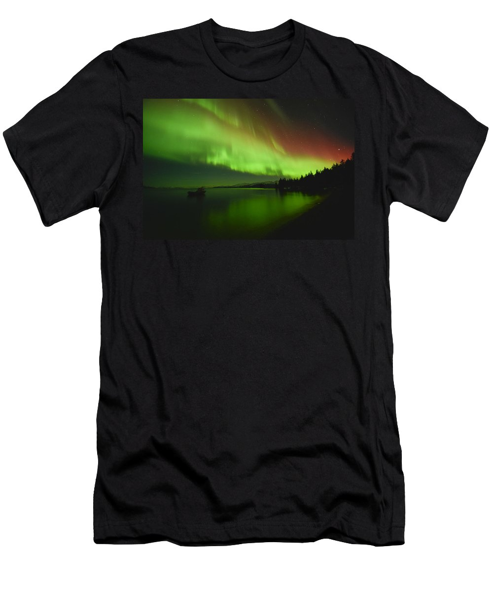 Aurora Men's T-Shirt (Athletic Fit) featuring the photograph Solar Storm by Ted Raynor