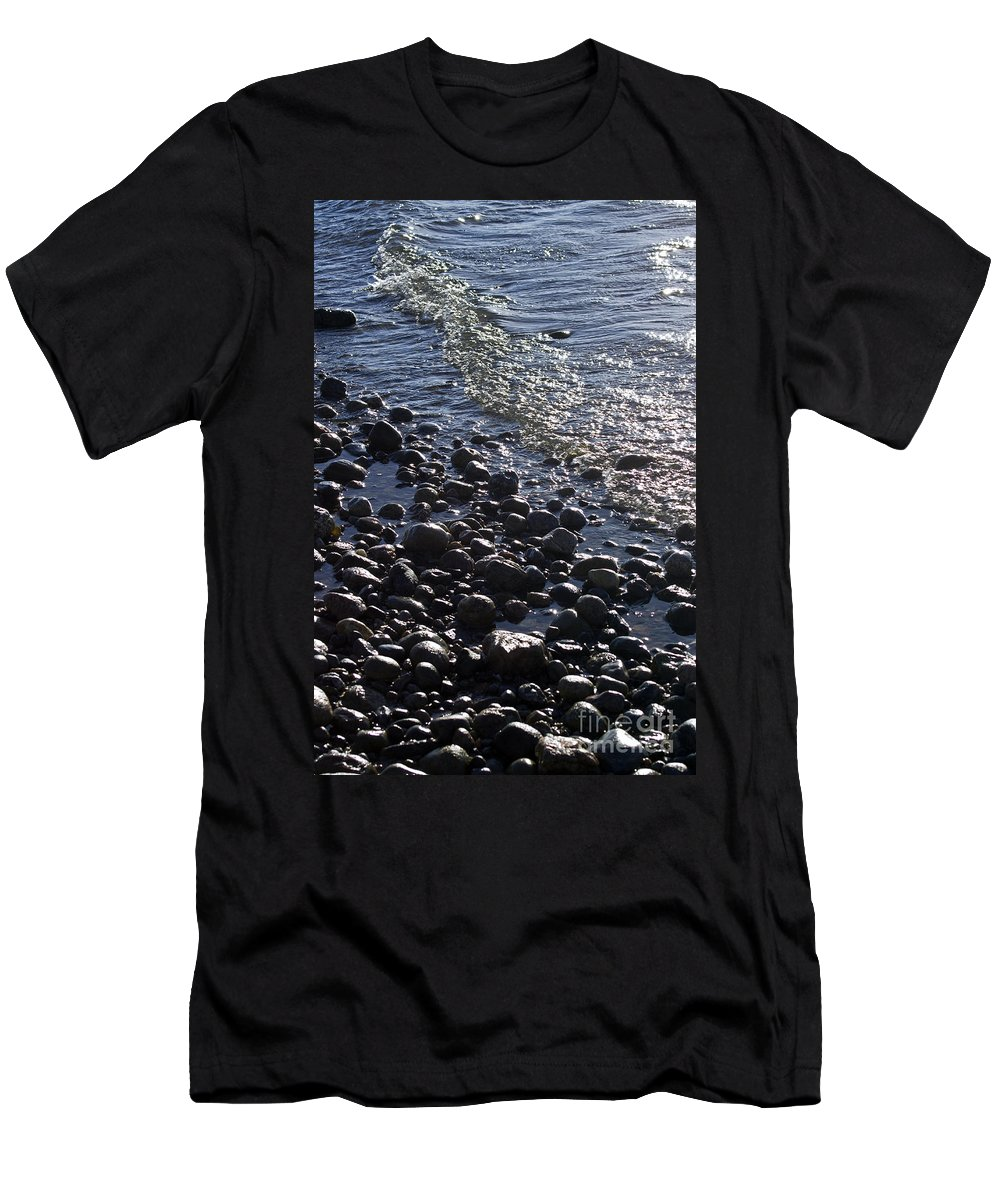 Shore Men's T-Shirt (Athletic Fit) featuring the photograph Solid Liquidity by Joe Geraci