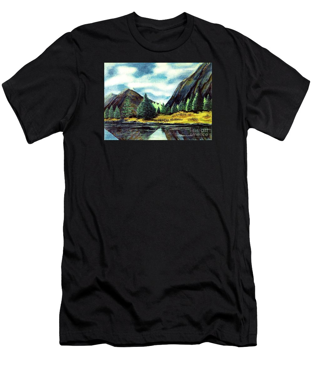 Fine Art Men's T-Shirt (Athletic Fit) featuring the painting Solitude by Patricia Griffin Brett