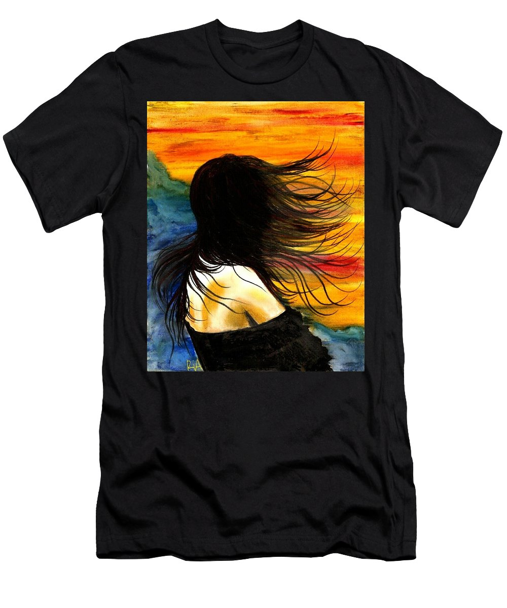 Beautiful T-Shirt featuring the photograph Solo Mood by Artist RiA