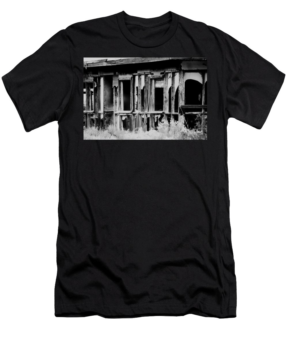 Black Men's T-Shirt (Athletic Fit) featuring the photograph Something Begins by Jessica Shelton