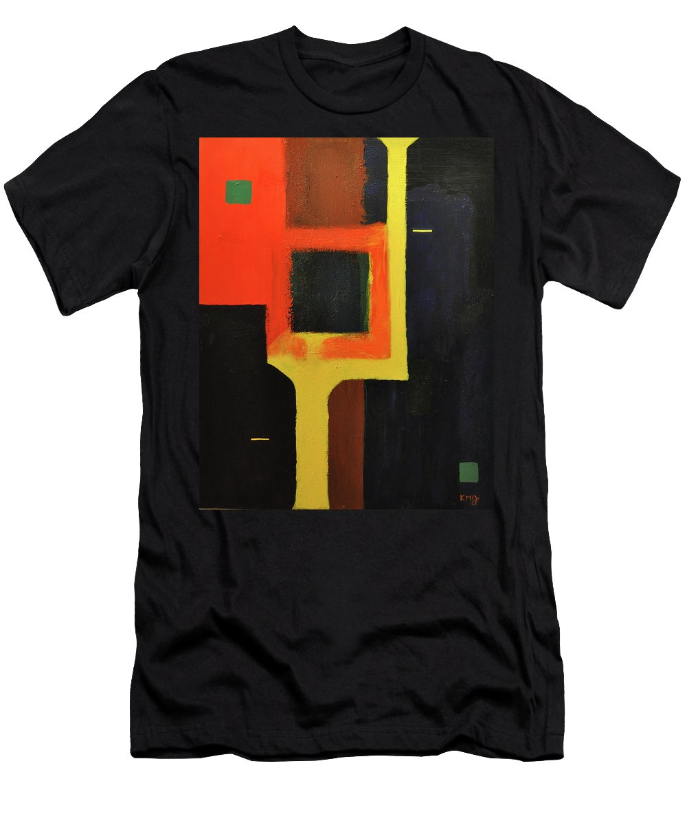 Abstract Men's T-Shirt (Athletic Fit) featuring the painting Something To Do With Light by Kimberly Maxwell Grantier