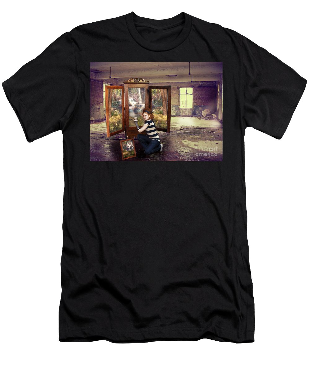 Homeless Men's T-Shirt (Athletic Fit) featuring the digital art Somewhere Better by Linda Lees