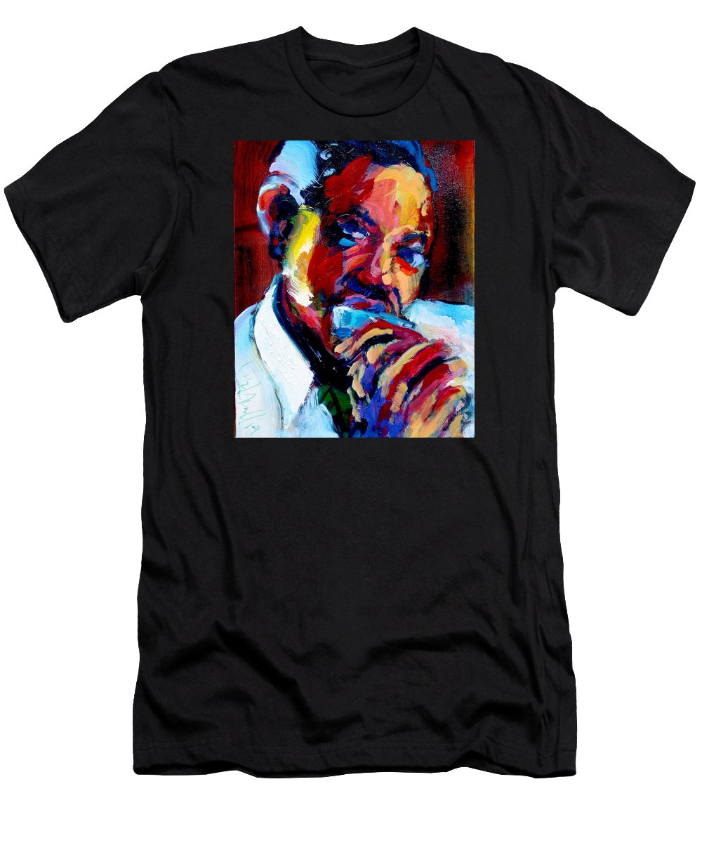 Sonny Boy Williamson Men's T-Shirt (Athletic Fit) featuring the painting Sonny Boy by Les Leffingwell