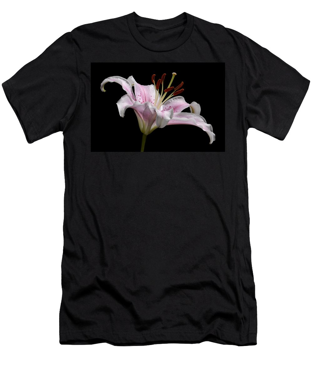 Sorbonne Men's T-Shirt (Athletic Fit) featuring the photograph Sorbonne Lily-0002 by Russ Greene