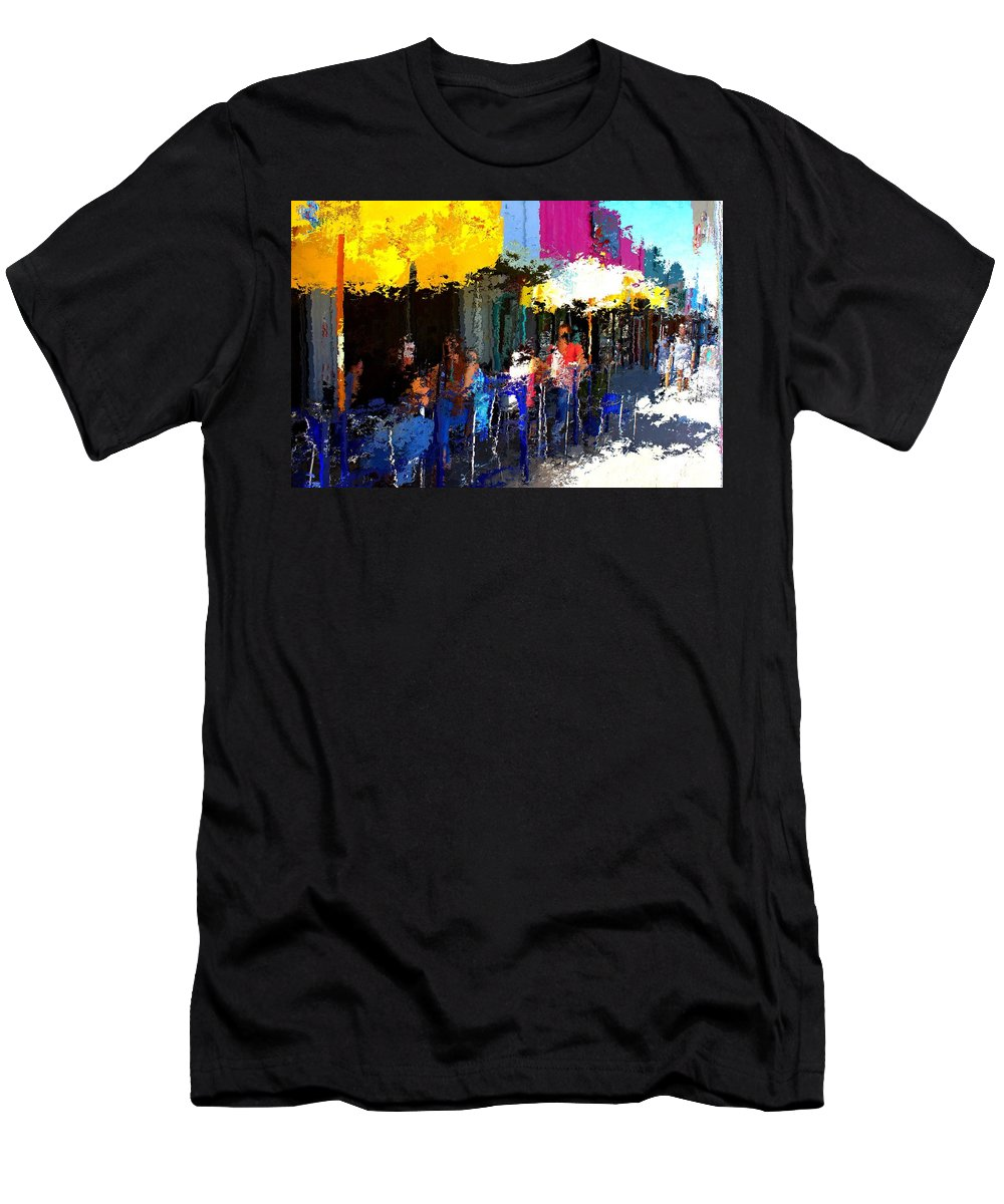 Austin Men's T-Shirt (Athletic Fit) featuring the mixed media South Congress by Terence Morrissey
