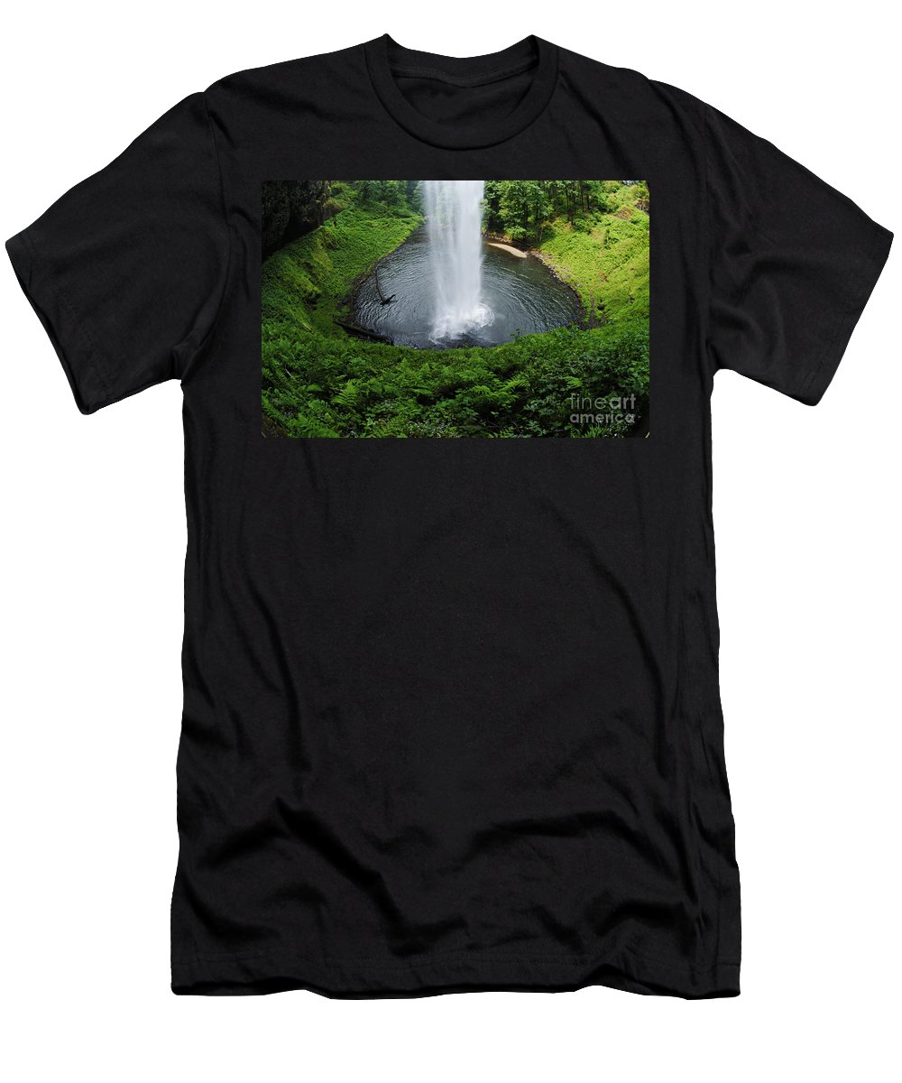 South Falls Men's T-Shirt (Athletic Fit) featuring the photograph South Falls Oregon by Bob Christopher