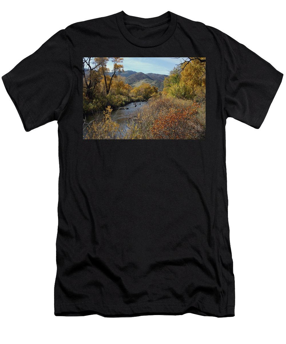 South Platte Men's T-Shirt (Athletic Fit) featuring the photograph South Platte by Ben Zell