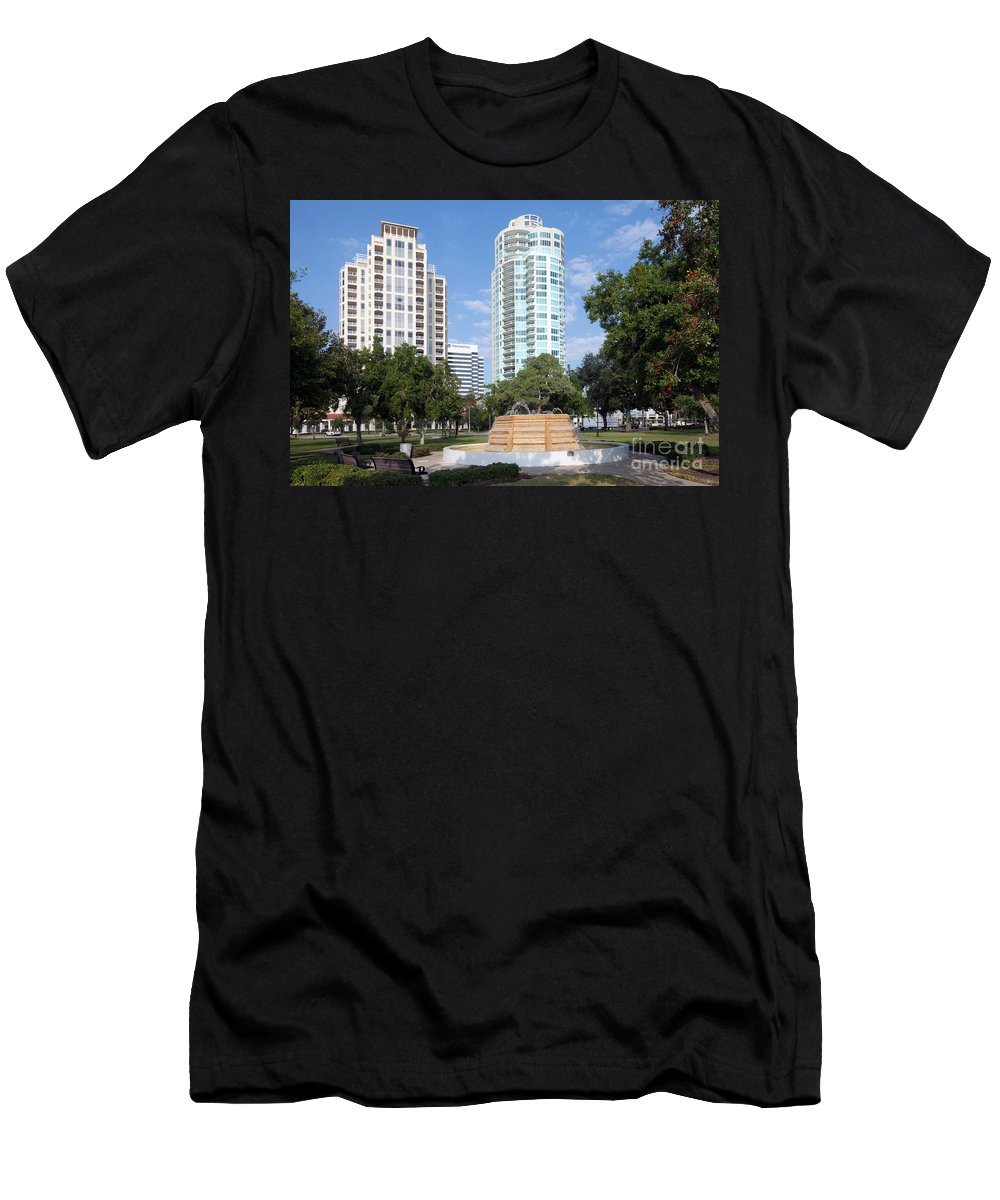 Florida Men's T-Shirt (Athletic Fit) featuring the photograph South Straub Park St Petersburg Florida by Bill Cobb