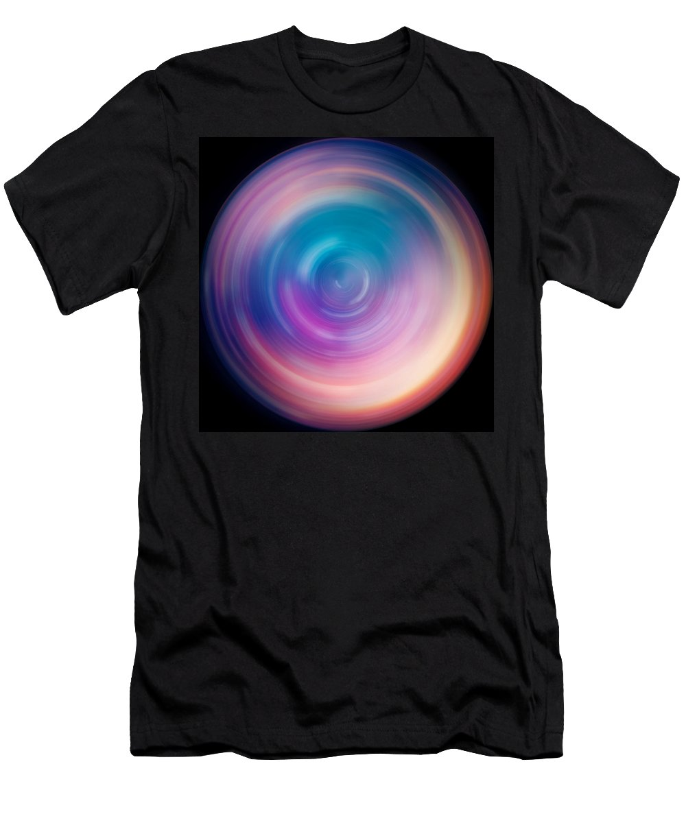 Universe Men's T-Shirt (Athletic Fit) featuring the photograph Spin Art 1 by Jennifer Rondinelli Reilly - Fine Art Photography