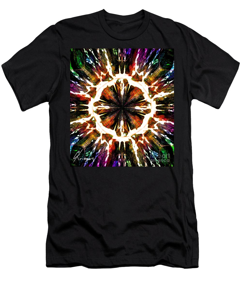 Abstract Men's T-Shirt (Athletic Fit) featuring the painting Spiragraph by Christopher Krieger