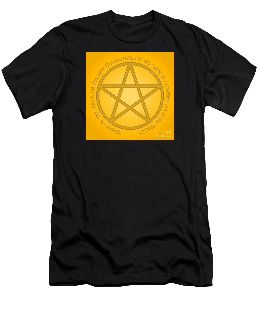 Pagan Men's T-Shirt (Athletic Fit) featuring the digital art Spirit Of Air by Melissa A Benson