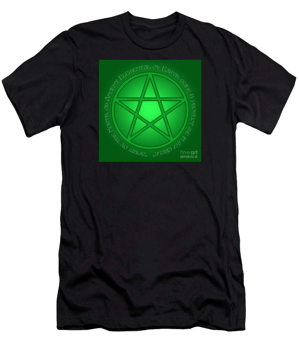 Spirit Of Earth Men's T-Shirt (Athletic Fit) featuring the digital art Spirit Of Earth by Melissa A Benson