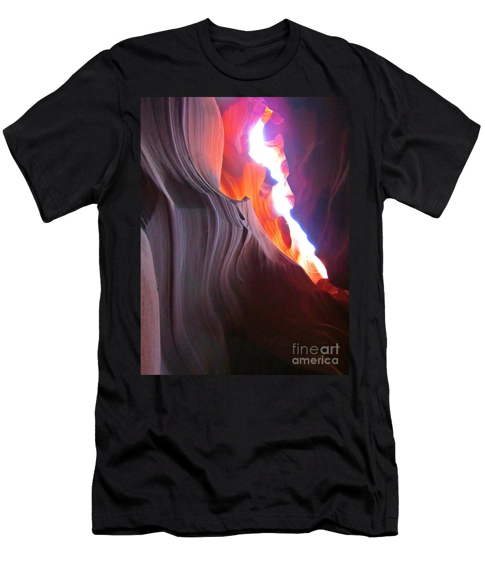 Beautiful Sandstone Formations Men's T-Shirt (Athletic Fit) featuring the photograph Spiritual Places by John Malone