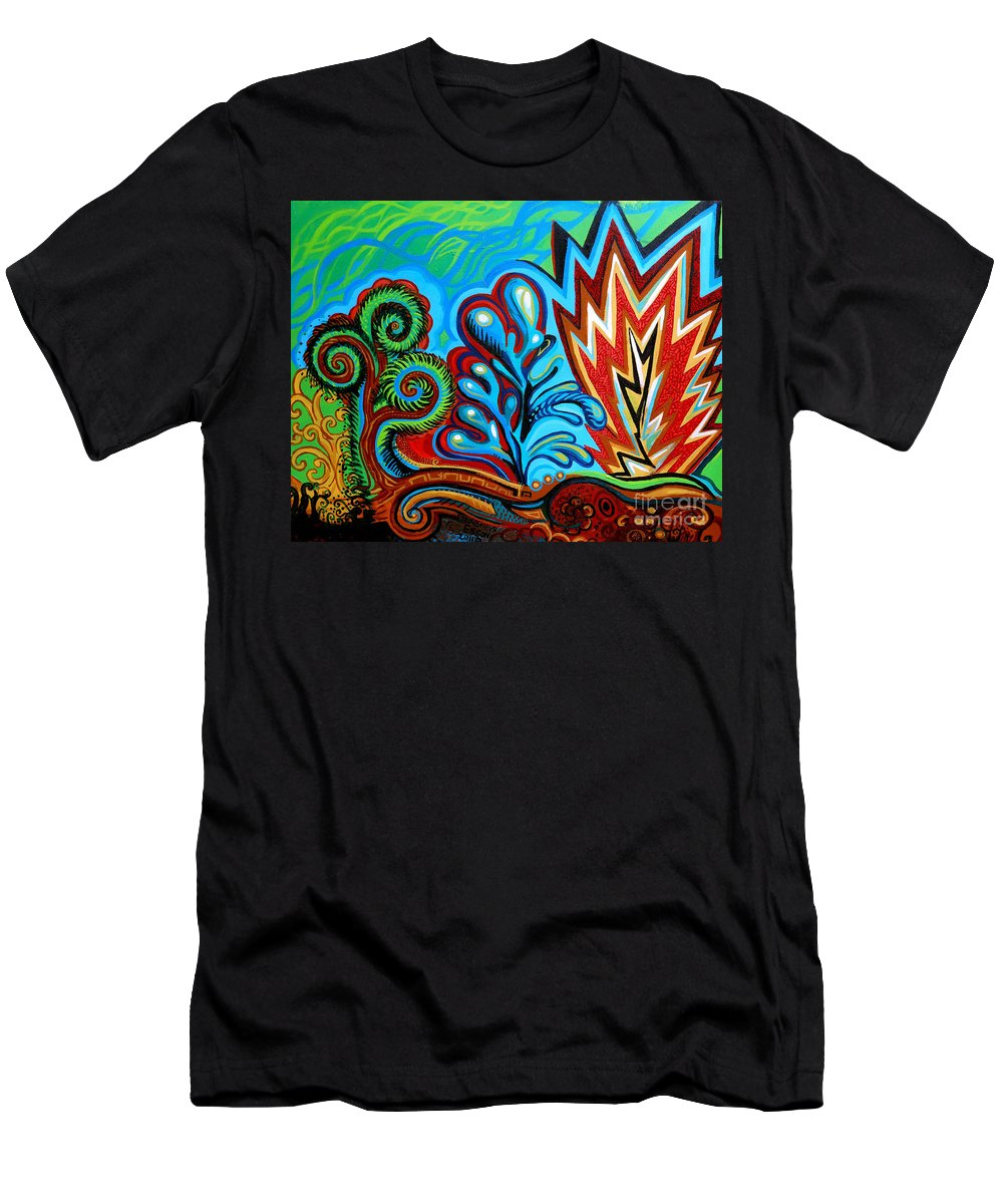 Flowers Men's T-Shirt (Athletic Fit) featuring the painting Spiro Gyra by Genevieve Esson