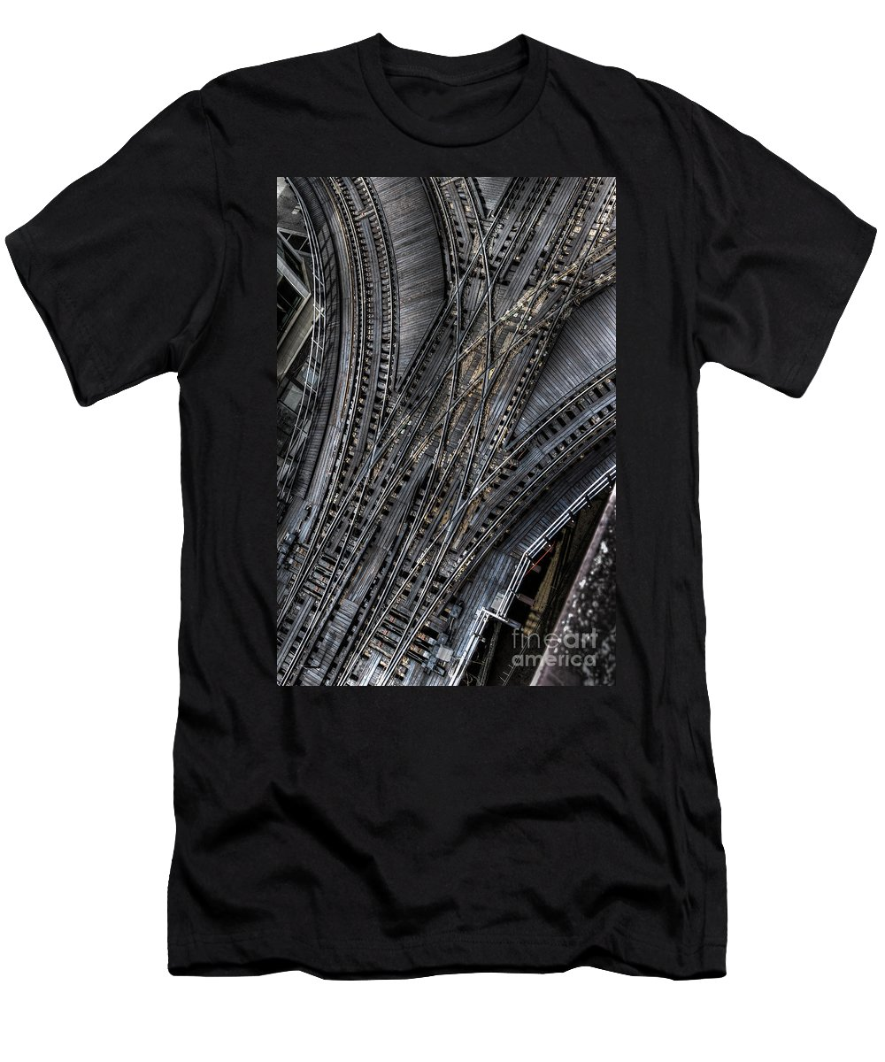 Elevated Men's T-Shirt (Athletic Fit) featuring the photograph Split Decision by Margie Hurwich