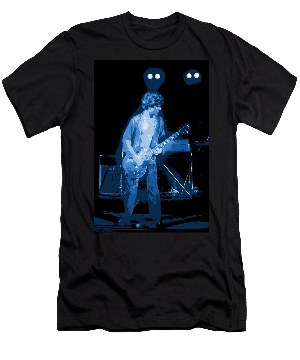 Sammy Hagar Men's T-Shirt (Athletic Fit) featuring the photograph Spokane Blues In 1977 by Ben Upham