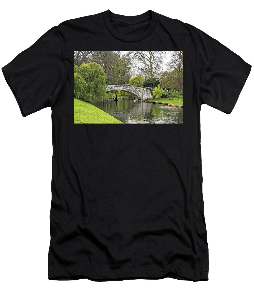 Travel Men's T-Shirt (Athletic Fit) featuring the photograph Spring And The River Cam by Elvis Vaughn